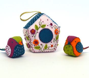Birdhouse And Birds Felt Craft Kit - etui coterie