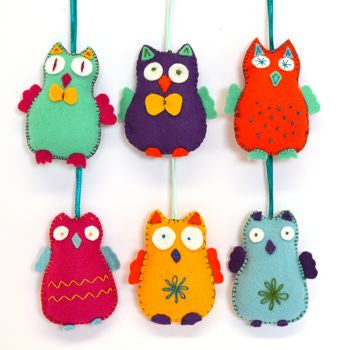 Happy Owls Felt Craft Kit - etui coterie