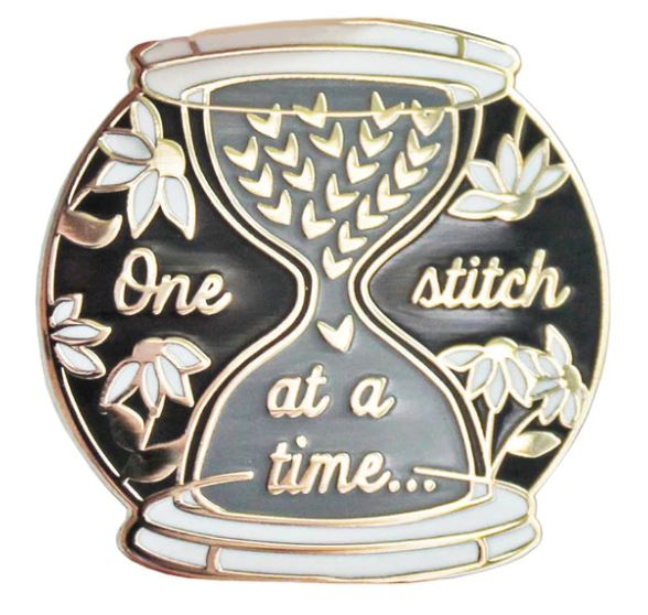 One Stitch at a Time Pin Badge