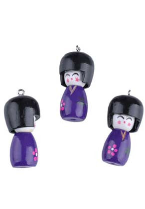 Japanese Lady Scissor Keeper / Bag Charm Kit - etui coterie