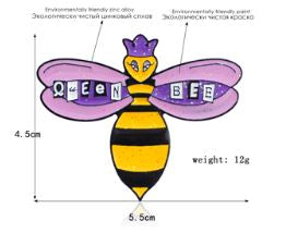 Queen Bee Pin Badge
