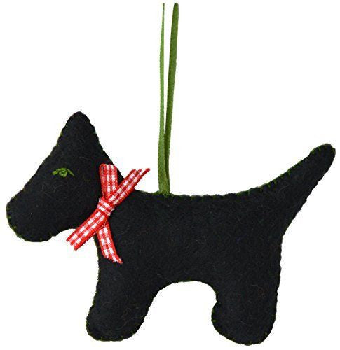 Scotty Dog Mini Felt Craft Kit Black / White - etui coterie