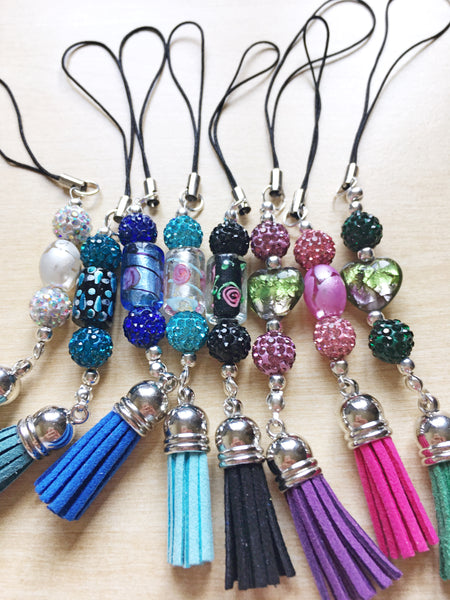 Limited Edition Sparkle and Tassel Scissor Keepers or Bag Charms - etui coterie