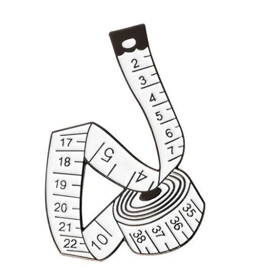 Tape Measure Pin Badge