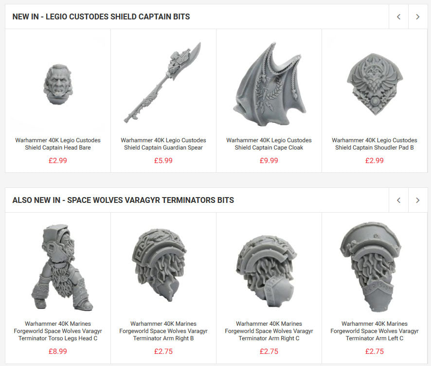 Space Wolves Varagyr Terminators & Shield Captain Bits NOW IN!