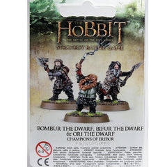 Warhammer World The Hobbit Champions of Erebor Bombur Bifur Ori Dwarf Event