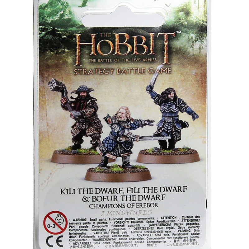 Warhammer World The Hobbit Champions of Erebor Kili Fili Bofur Dwarf Event