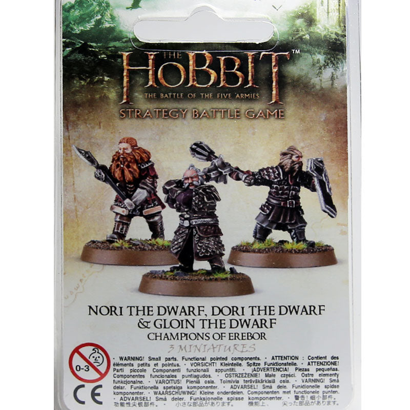 Warhammer World The Hobbit Champions of Erebor Nori Dori Gloin Dwarf Event