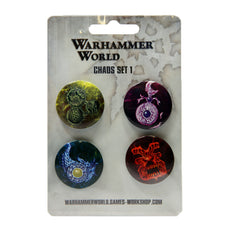 Warhammer 40k Chaos Space Marines Warhammer World Exclusive Pin Badge Set 1