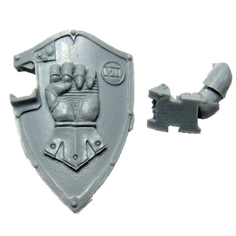 Warhammer 40K Forgeworld Imperial Fists Phalanx Warder Boarding Shield with Arm