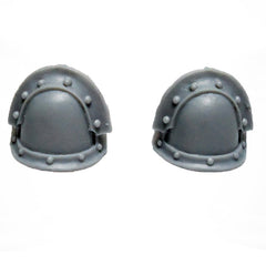 Warhammer 40K Space Marines Forgeworld MKIII Iron Armour Shoulder Pads Pair