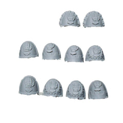 Warhammer 40K Space Marine Iron Hands Shoulder Pads x10 Bits Finecast