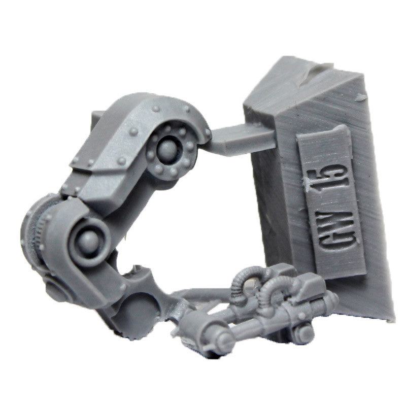 Warhammer 40K Space Marine Iron Warriors Iron Circle Domitar Left Leg