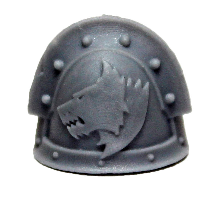 Warhammer 40K Marines Forgeworld Space Wolves MKIII Shoulder Pad Bits