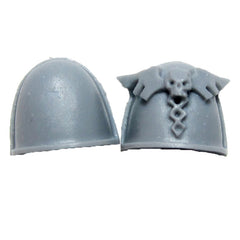 Warhammer 40K Space Marines Forgeworld Legion MKIV Apothecary Shoulder Pads Pair