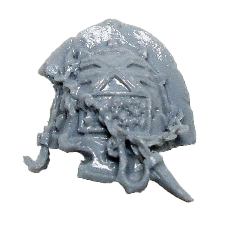 Warhammer 40K  Chaos Marines World Eaters Terminator Shoulder Pad Left E Bits