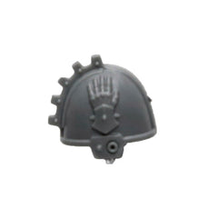 Warhammer 40K Space Marine Games Workshop Iron Hands Iron Father Feirros Shoulder Pad Left