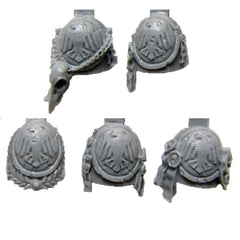 Warhammer 40k Forgeworld Space Marine Raven Guard Chapter Shoulder Pads x5