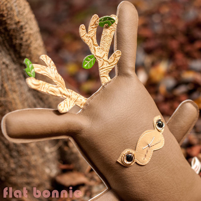 Flat-Bonnie-Jackalope-Handmade-Plush-The-World-is-Watching-IG-Vinyl-Pleather
