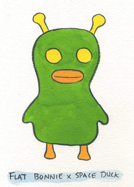 Flat-Bonnie-Space-Duck-Plush-Mr-Toast-Alien-painting-640