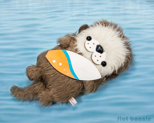 Surfing Otter - DesignerCon 2016 Exclusive - Pre-order - Plush Stuffed Animal - Flat Bonnie - 1