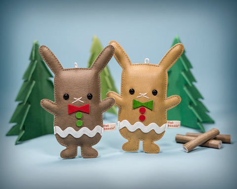 Mr. and Mrs. GingerBun - Holiday Ornaments - DesignerCon 2016 Pre-order - Ornament - Flat Bonnie - 1