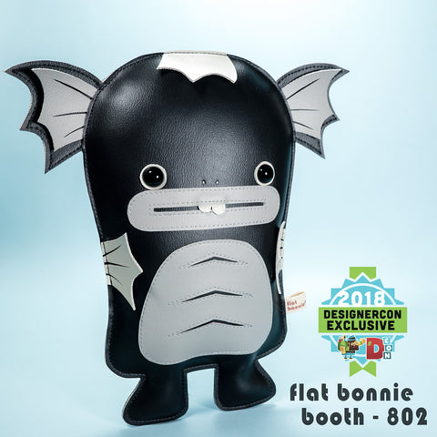 Flat-Bonnie-Dobichan-Plush-DesignerCon-2018-Exclusive-Monochrome-Edition-DCon
