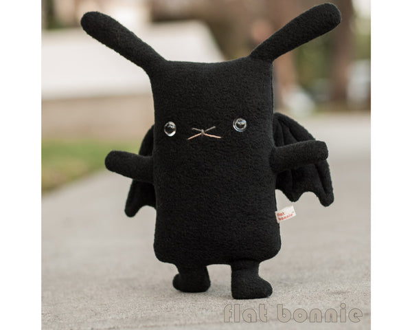 Batbun the Bunny x Bat plush stuffed animal - Plush Stuffed Animal - Flat Bonnie - 1