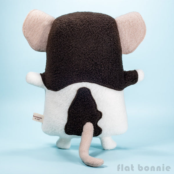 Custom Rat / Mouse stuffed animal - Plush clone of your rat / mouse - Plush Stuffed Animal - Flat Bonnie - 3