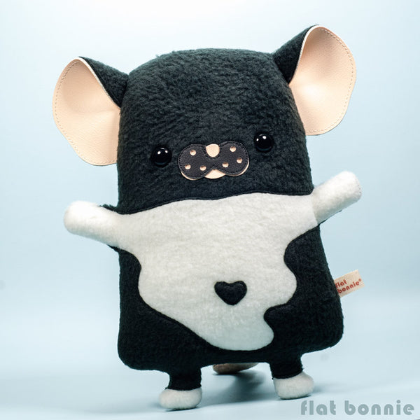 Custom Rat / Mouse stuffed animal - Plush clone of your rat / mouse - Plush Stuffed Animal - Flat Bonnie - 2