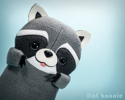 Koringo the kawaii Raccoon - stuffed animal - Handmade plush doll