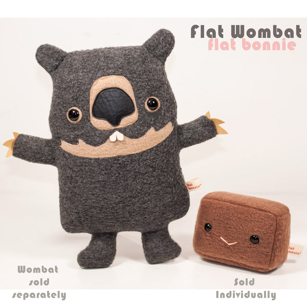 Wombat Poop plush - Square Wombat poo plushie - Plush Stuffed Animal Poop - Flat Bonnie - 2