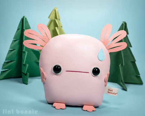 Baby Axolotl plush toy - Handmade stuffed animal - aka Wooper Looper, Salamander