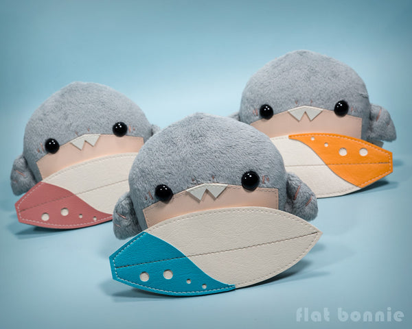 Baby shark stuffed animal - Surfing shark soft toy doll - Flat Bonnie 3
