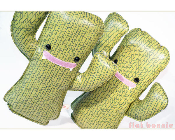 Cactus plush stuffed animal - Zig-Zag print - Plush Non Animal - Flat Bonnie - 1