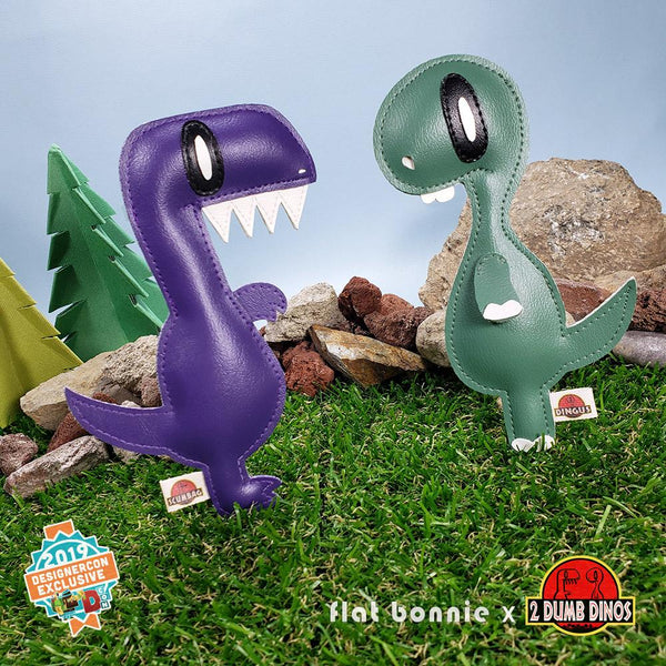 Flat Bonnie x 2 Dumb Dinos Collaboration - DesignerCon 2019 Exclusive - Flat 2DD Plush figure set-2