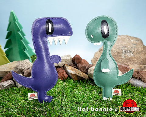 Flat Bonnie x 2 Dumb Dinos Collaboration - DesignerCon 2019 Exclusive - Flat 2DD Plush figure set-1