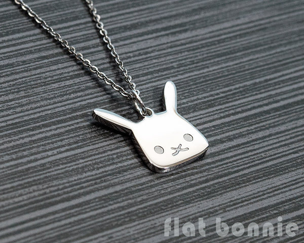 Cute animal charm necklace - Kawaii jewelry - Bunny, Dog, Cat, Guinea Pig - 6