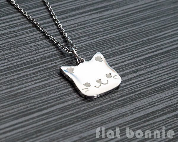 Cute animal charm necklace - Kawaii jewelry - Bunny, Dog, Cat, Guinea Pig - 5