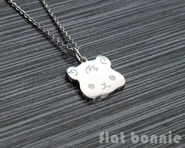 Cute animal charm necklace - Kawaii jewelry - Bunny, Dog, Cat, Guinea Pig - 3