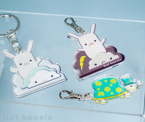 Flat Bonnie Keyring - 5 designs - with keychain or clasp hook - Keyring - Flat Bonnie - 2