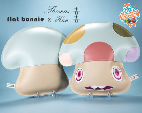 Flat Bonnie x Thomas Han Collaboration - DesignerCon 2019 Exclusive - Mushi Mushi Mushroom plush - 1