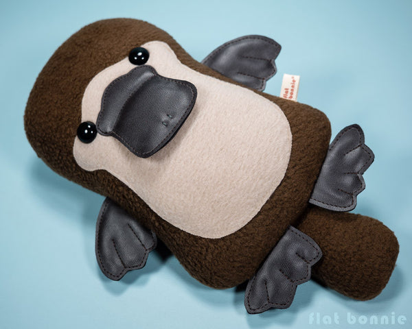 Platypus plush - Duck-Billed Platypus stuffed animal - PlatyBon - Plush Stuffed Animal - Flat Bonnie - 5