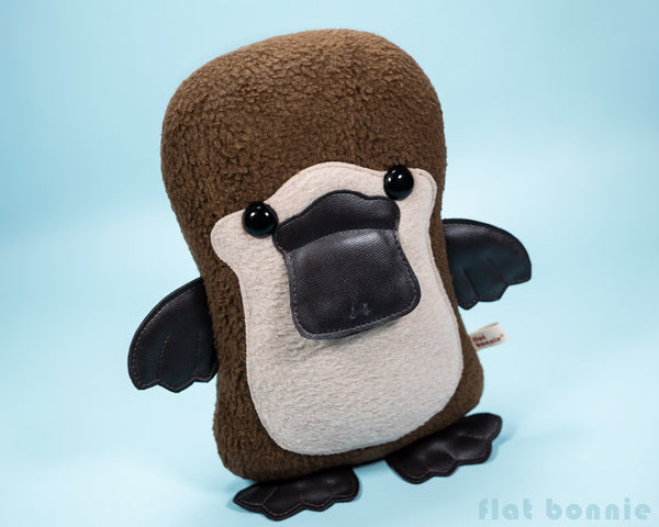 Platypus plush - Duck-Billed Platypus stuffed animal - PlatyBon - Plush Stuffed Animal - Flat Bonnie - 3