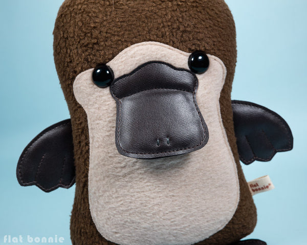Platypus plush - Duck-Billed Platypus stuffed animal - PlatyBon - Plush Stuffed Animal - Flat Bonnie - 2