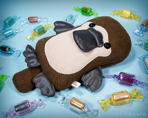 Platypus plush - Duck-Billed Platypus stuffed animal - PlatyBon - Plush Stuffed Animal - Flat Bonnie - 1