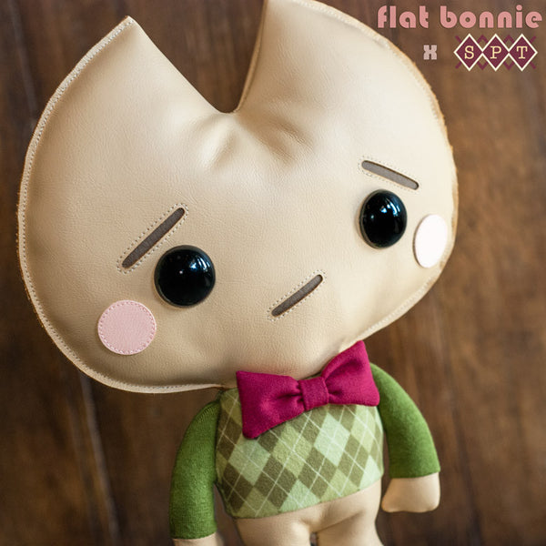 Kookie No Good plush - Argyle Edition - Plush by Flat Bonnie x Scott Tolleson - Plush Non Animal - Flat Bonnie - 5