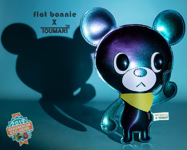 Flat Bonnie x Touma Collaboration - DesignerCon 2019 Exclusive - Hitch Bear plush - 2