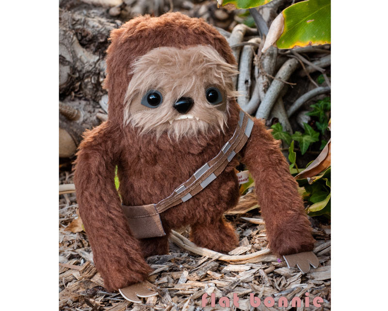 Chew-Loth - SDCC2015 preorder - Manny the Sloth in his Chewbacca cosplay - Plush Stuffed Animal - Flat Bonnie - 1
