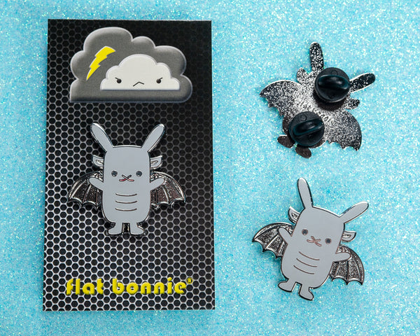 Bungoyle - Gargoyle Bunny enamel pin - Cute backpack pin - 3